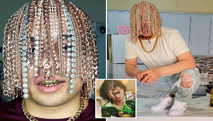 Rapper Dan Sur gets gold chain hooks surgically implanted into scalp