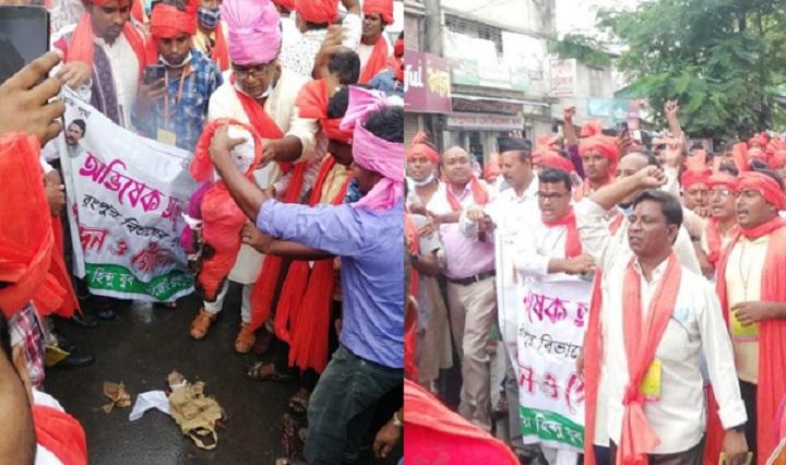 Hindus burn effigies of editor Mahfuz, Shaheen Anam
