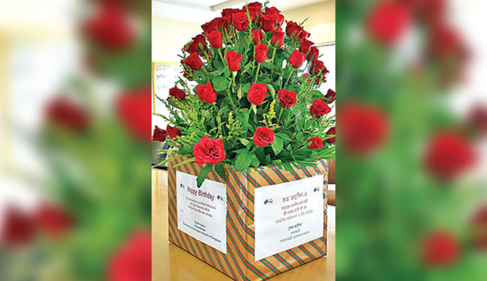 Hasina sends Modi bouquet of 71 roses on his birthday