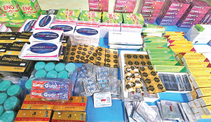 Huge adulterated medicines seized in city