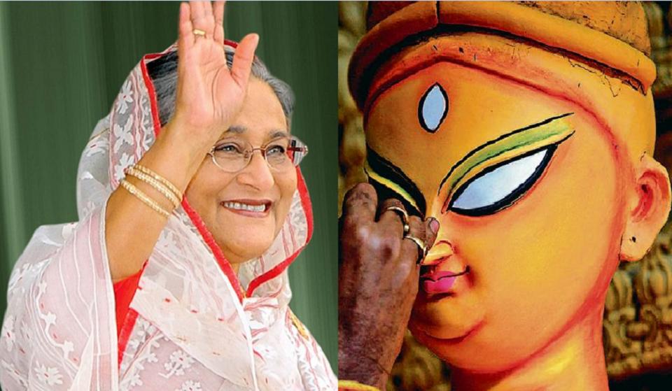 Prime Minister donates Tk 3cr for Durga Puja