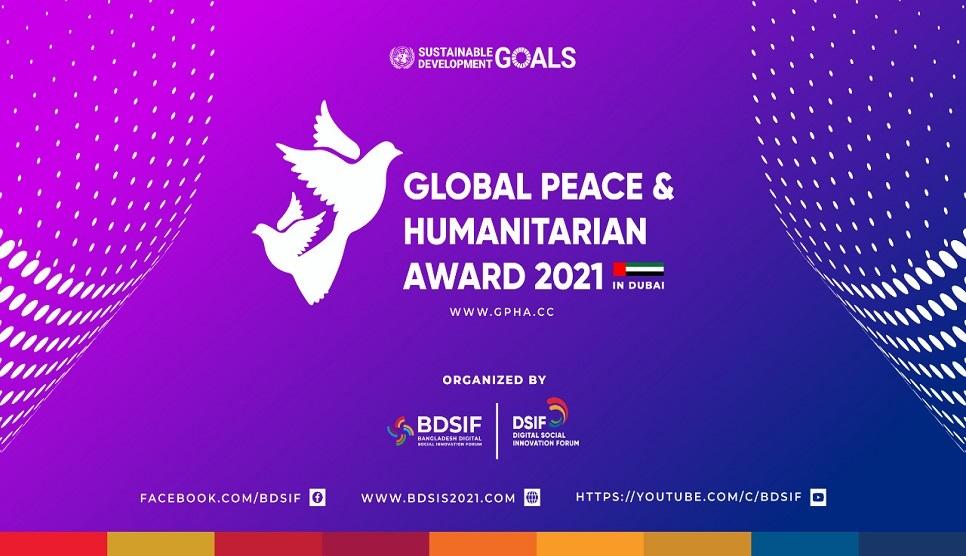 21 October 'The Global Peace and Humanitarian Awards 2021 at Dubai