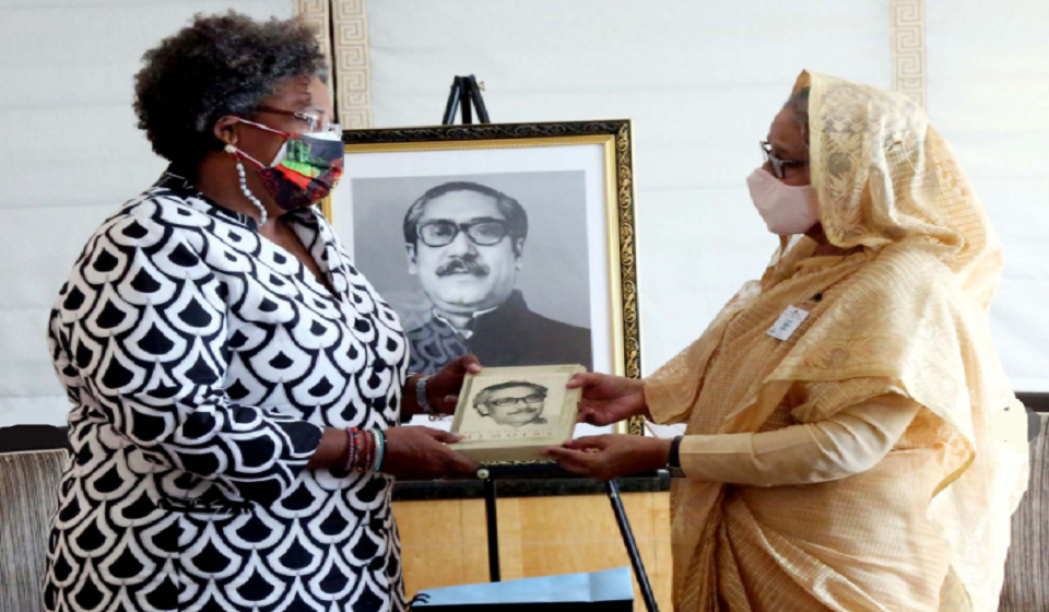 Barbados PM Mottley pays courtesy call on Bangladesh PM