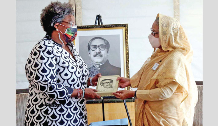 Barbados PM calls on Hasina