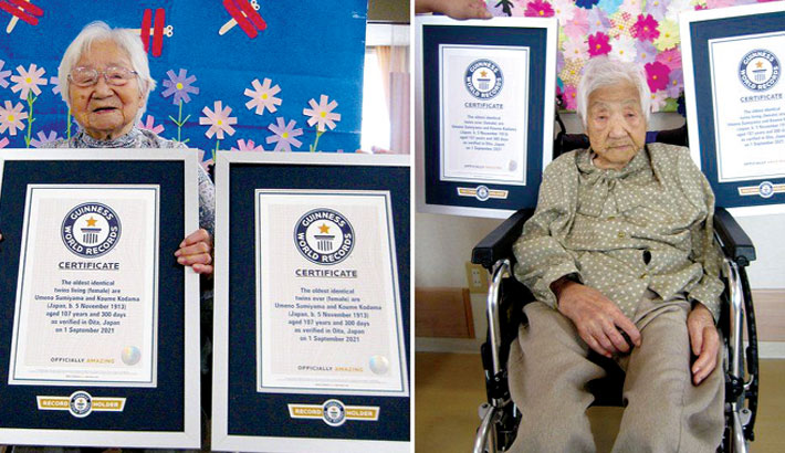Japanese sisters certified as world's oldest twins