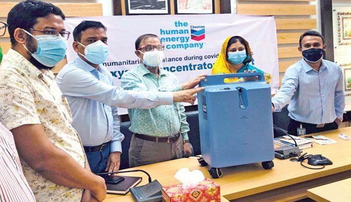Chevron provides oxygen concentrators to local community hospitals