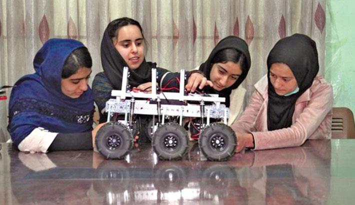 Afghan girls robotics team design their future in Qatar