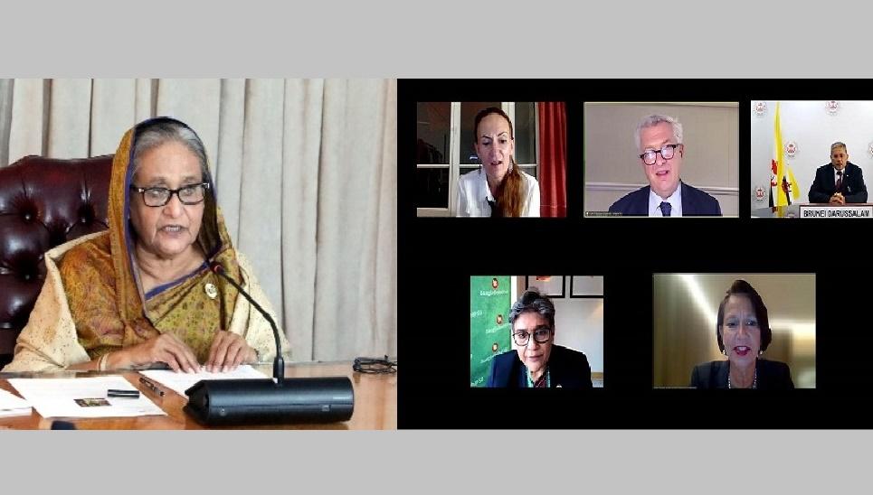 Global inaction over Rohingya repatriation shocks Bangladesh: PM