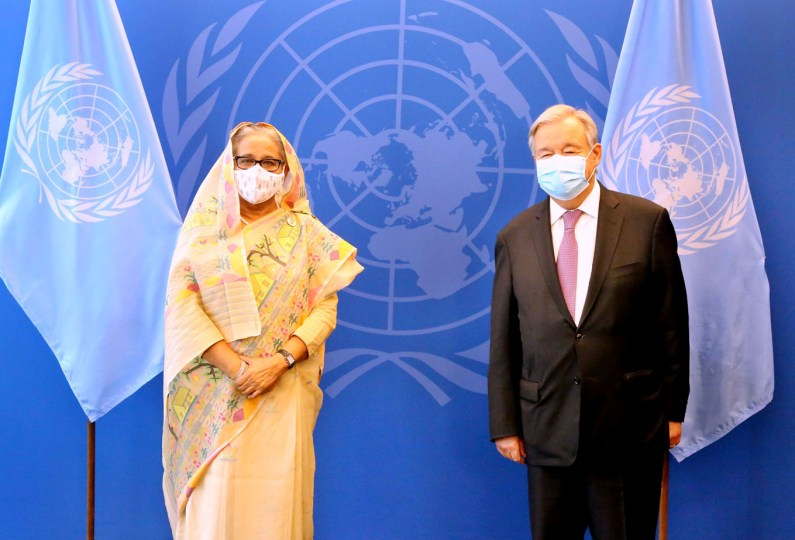 UN chief showers praise on Hasina, says Bangladesh a 'development miracle'