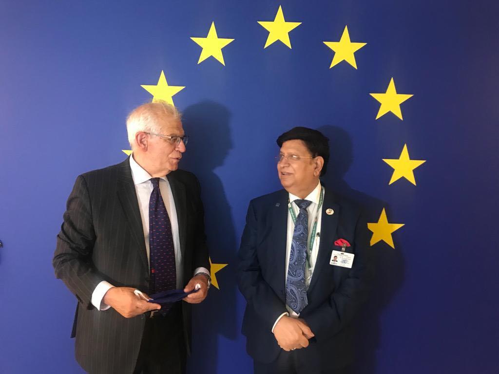 FM meets EU High Representative, requests effective support for Rohingya repatriation