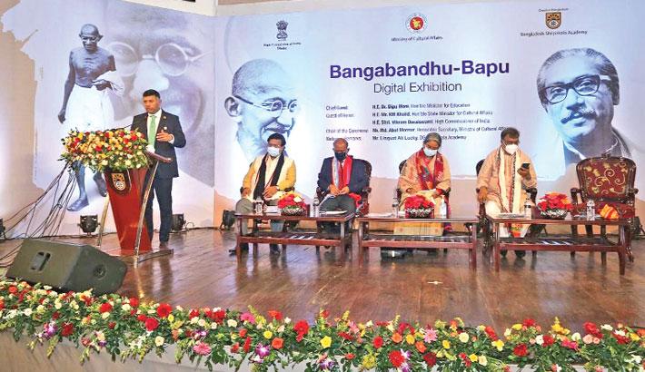 Bangabandhu-Bapu Digital Exhibition is on at BSA