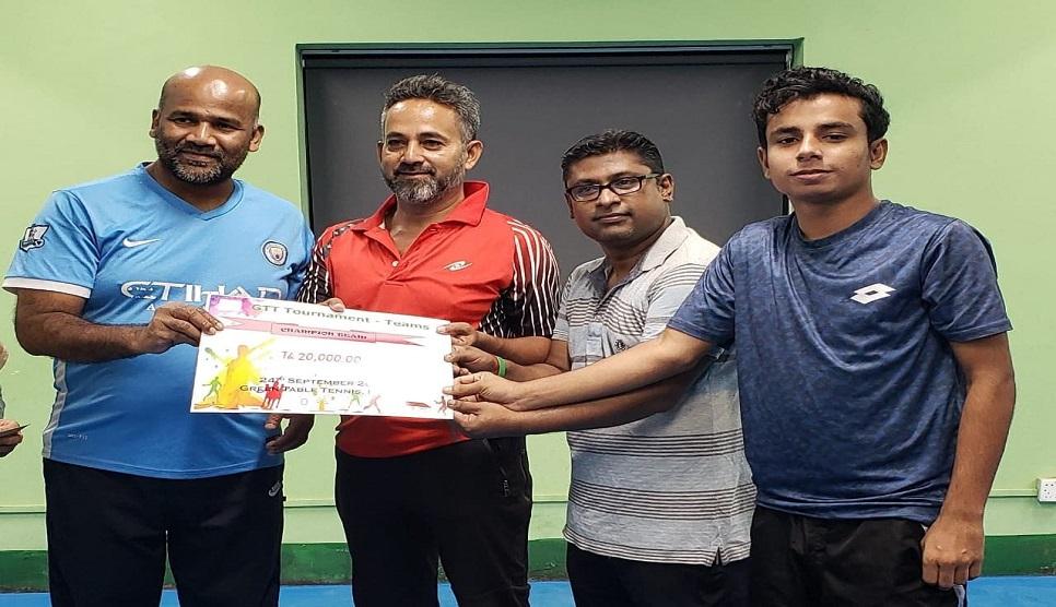 Green Table Tennis: Sports Mymensingh emerge champions
