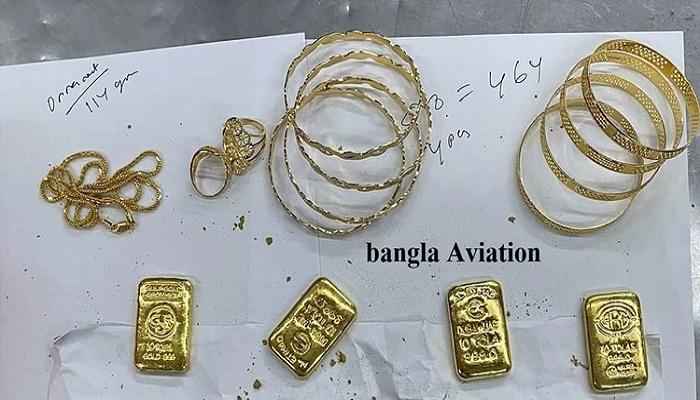 Passenger held with gold worth Tk 1.5 crore at Dhaka airport