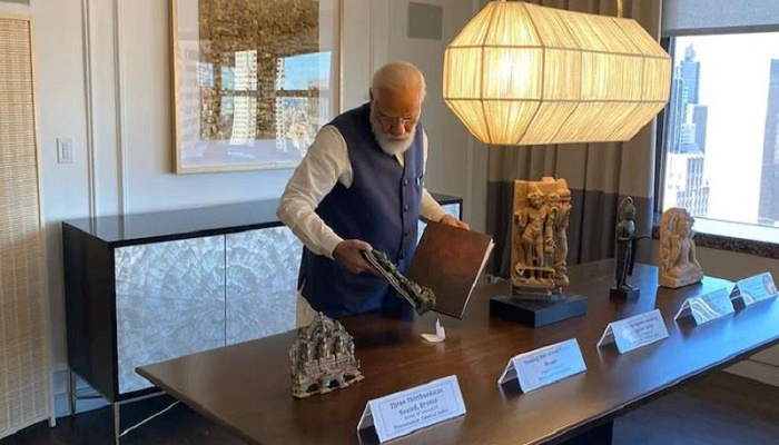 PM Modi to bring back 157 antiquities handed over by U.S.