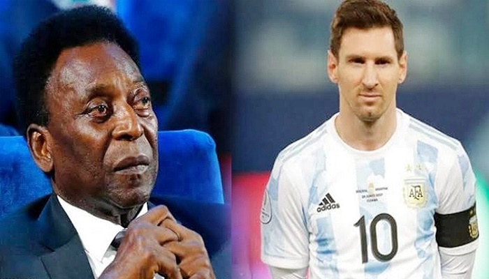 Pele sorry for delay in hailing Messi for breaking goals record