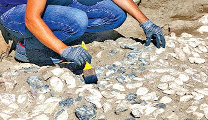 'Ancestor' of Mediterranean mosaics discovered