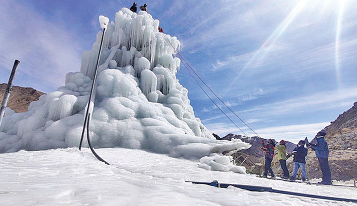 Scientists develop ice structures for Himalayan water crisis