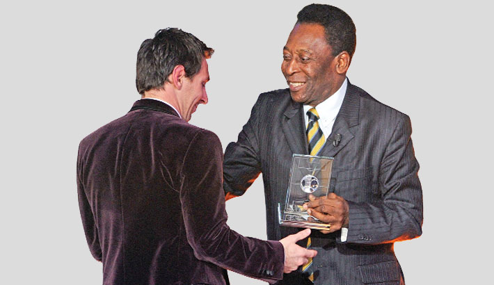 Pele sorry for delay in hailing Messi