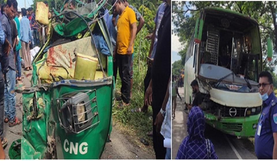 Three killed in Habiganj road accident