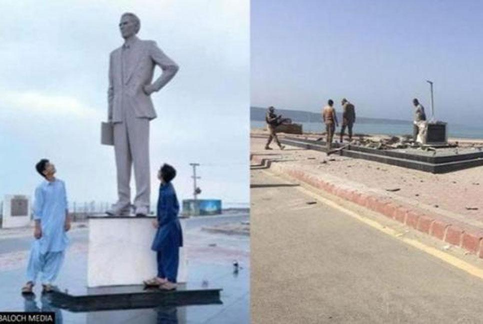 Pakistan's founder M A Jinnah's statue destroyed in blast in Balochistan