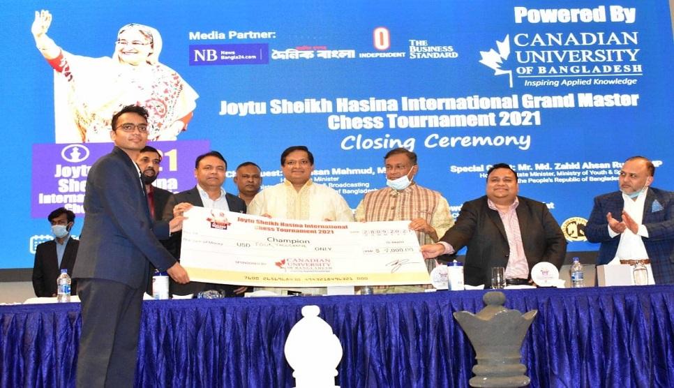 Joytu Sheikh Hasina Int'l Grandmasters Chess concludes