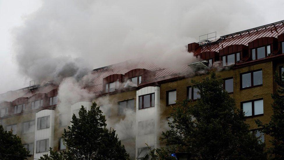 Blast tears through Gothenburg apartment block, injuring 16