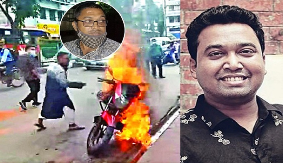 Ex-GS of BCL stands by angry biker who sets his motorcycle afire