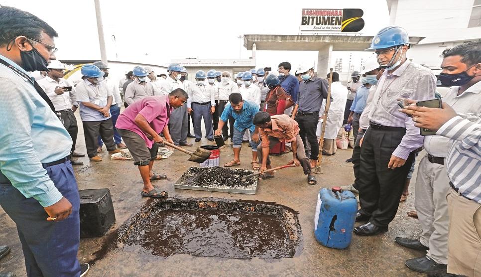 LGED team speaks highly of Bashundhara Bitumen