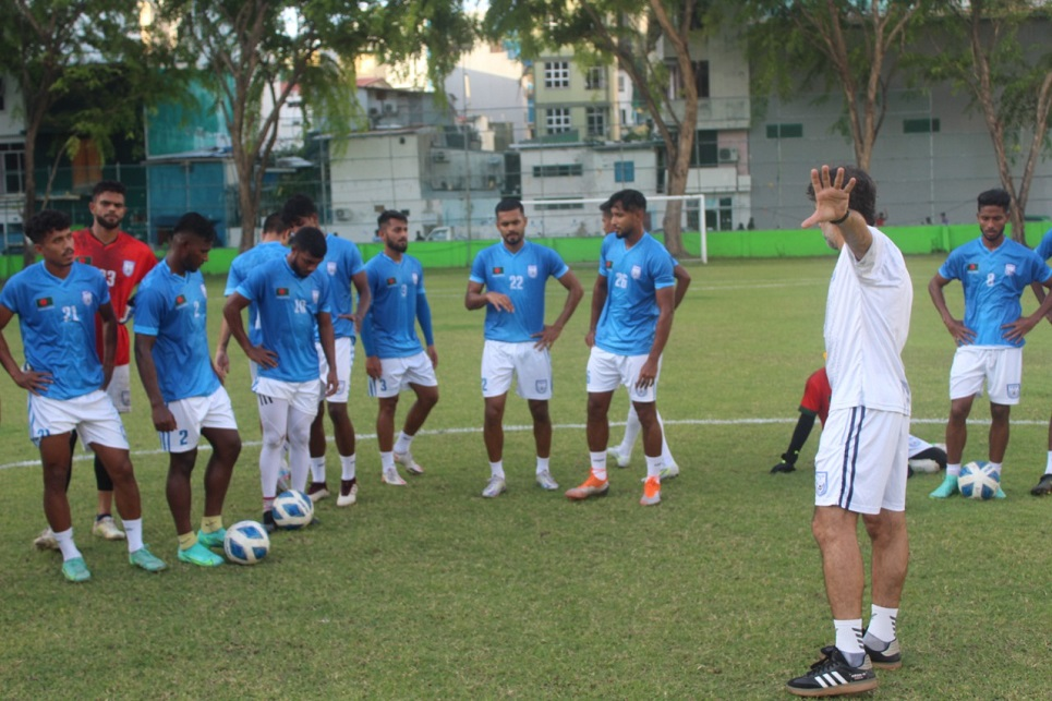 Booters complete first training in Male