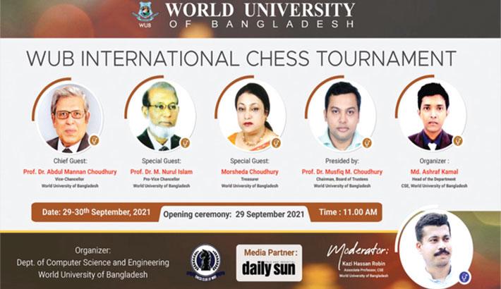 WUB International Chess begins today