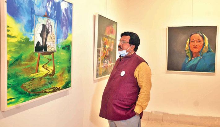 Art show on Sheikh Hasina begins at Shilpakala