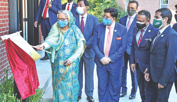 PM opens 'Bangladesh House' in USA's Maryland