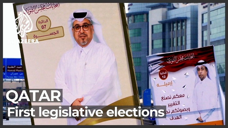 Qataris begin voting in first ever legislative polls