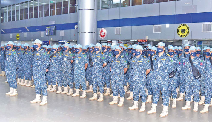Navy contingent leaves for UN peace mission in S Sudan