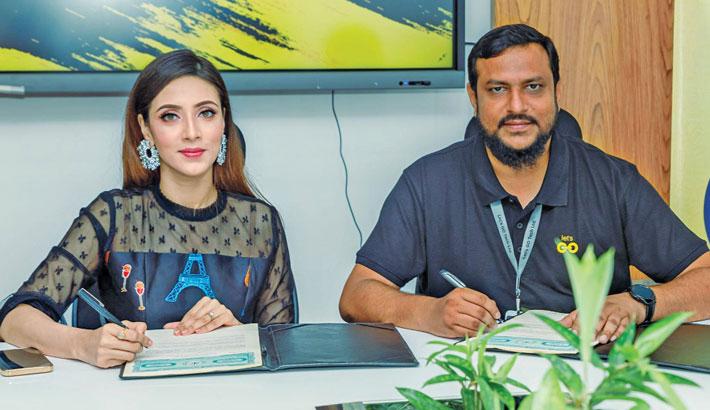 Bidya Sinha Mim becomes brand ambassador of 'Let's GO Mart'
