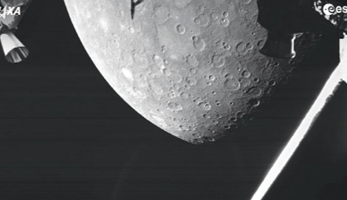 Europe's mission to Mercury returns first picture