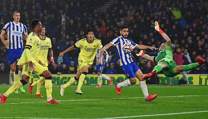 Arsenal's momentum halted by Brighton in stalemate