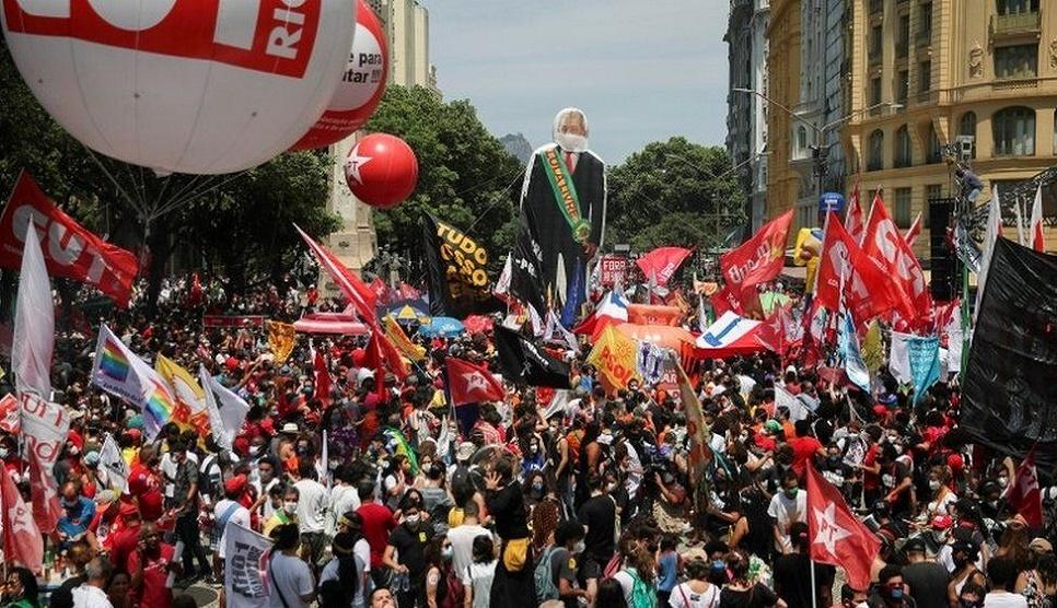 Mass protests against Brazil's president