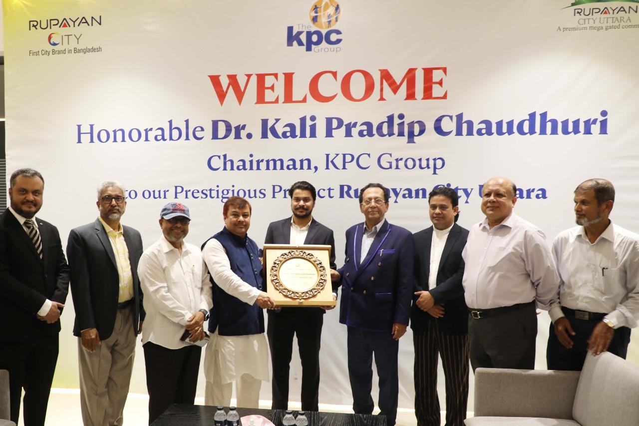 American CIP Kali Pradeep sees Rupayan City Uttara project