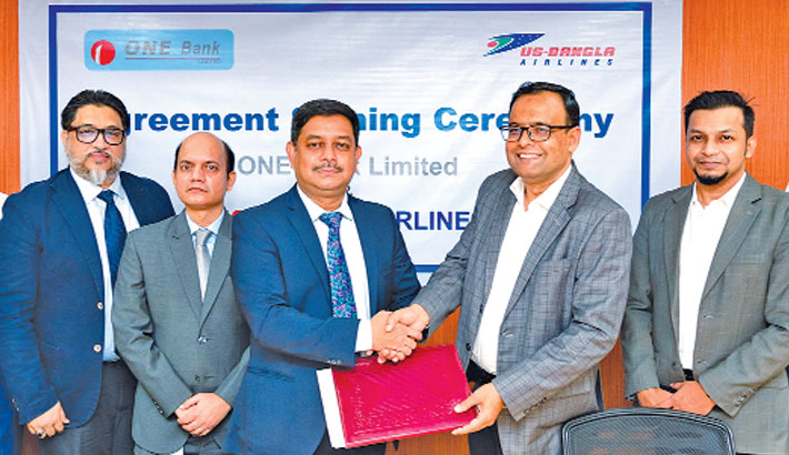 ONE Bank signs deal with US-Bangla Airlines