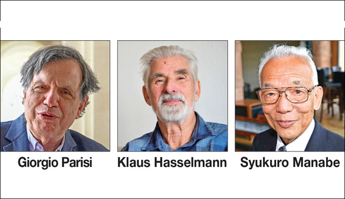 Trio wins Nobel prize for physics for climate work