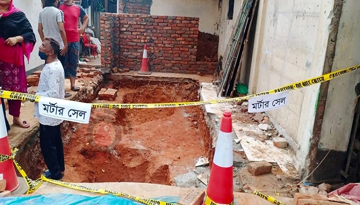 Mortar shell-like object found at Mirpur