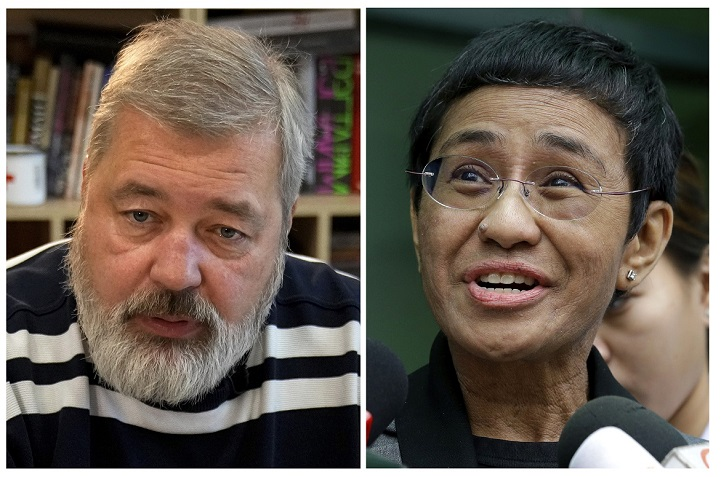 CPJ congratulates Maria Ressa and Dmitry Muratov for winning 2021 Nobel Peace Prize