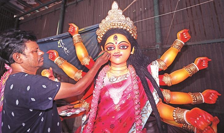 Durga Puja: Preparations in full swing