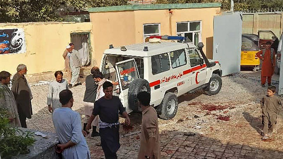 At least 100 dead, wounded in Afghan blast