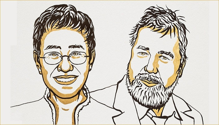 Journalists Maria Ressa and Dmitry Muratov win 2021 Nobel Peace Prize for press freedom