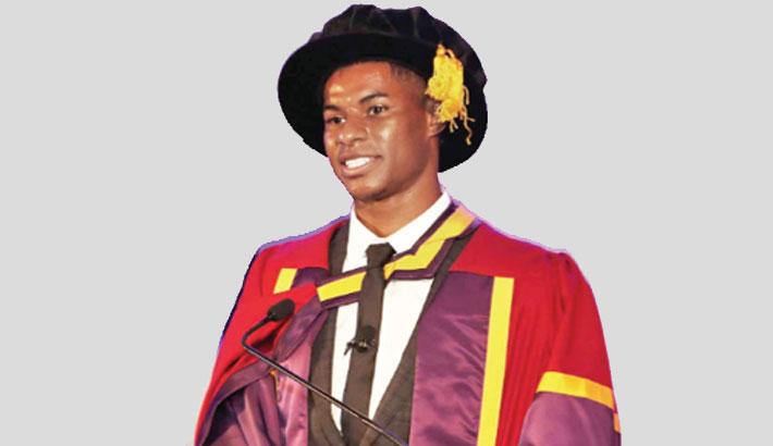 Rashford receives honorary degree
