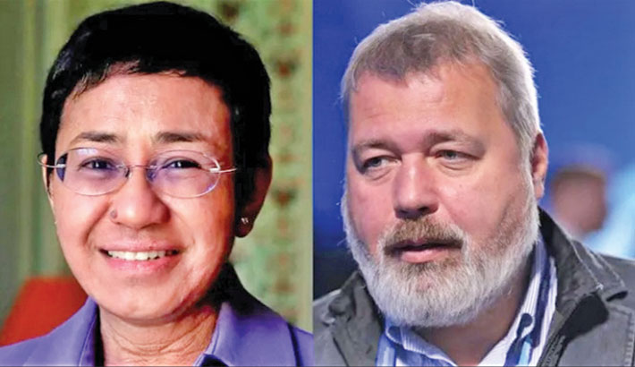 Two journalists win Nobel Peace Prize
