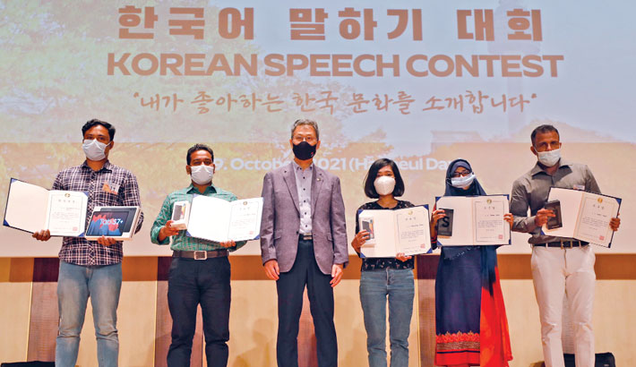 Korean speech contest held at IUB