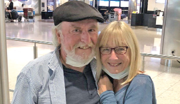 Aussie-UK couple kept apart by Covid reunited